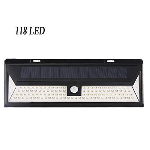 118 LED Luz Solar de Pared Brillante, Frontoppy Waterproof 3 Modos de Iluminación, Foco Solar Grande...