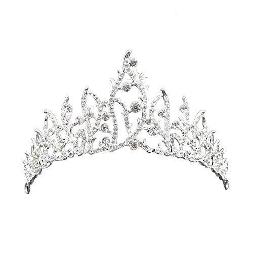 TIREOW_Hochzeit Braut Strass Kristall Tiara Krone Geburtstag Party Prinzessin (Kronen Für Die Könige)