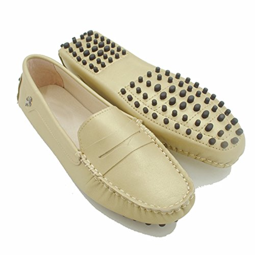 Minitoo , Mocassins pour femme Leather-Champagne
