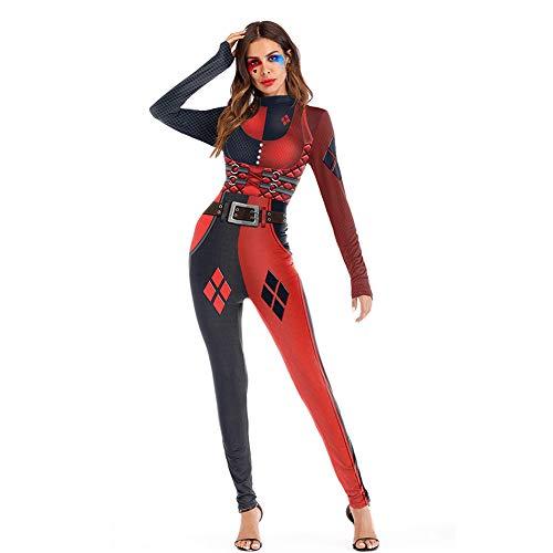 PAOFU-Damen Halloween Zirkus Kostüm Damen Spaßvogel Kostüm,M (Zirkus Motto Kostüm Für Erwachsene)
