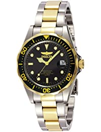 Invicta Pro Diver Unisex Wrist Watch Stainless Steel Quartz Black Dial - 8934