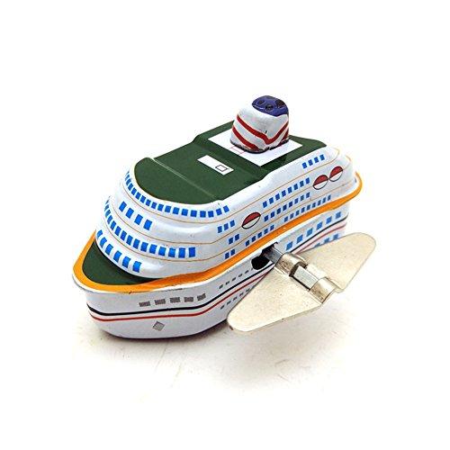 Ocamo Crucero de Juguete de Metal Mecanismo de Recolectando Juguetes,Barco de Juguete de Regalo para Niños