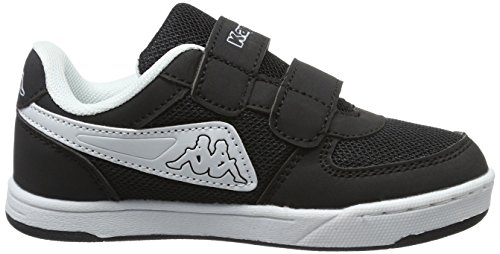 Kappa - Trooper Light Sun Kids, Pantofole Unisex – Bambini Nero (Black/white)