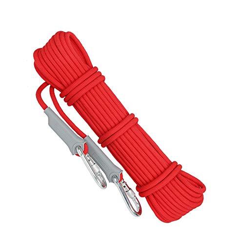 Corde d'escalade Corde d'escalade pour la descente en rappel, auxiliaire, travail aérien d'évacuation en cas d'incendie, corde polyvalente, diamètre 12mm Corde durable de haute qualité de sécurité 10-