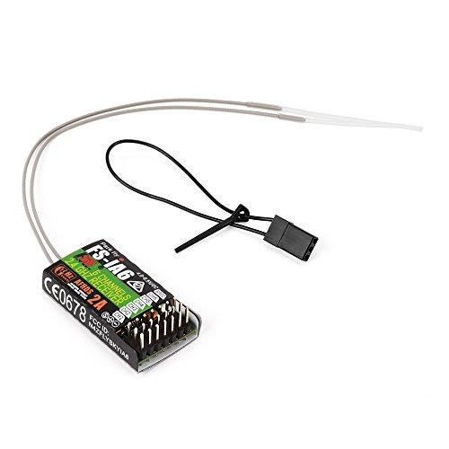flysky empfaenger Flysky FS-iA6 2.4G 6 Kanal-Fernsteuerungsempfänger mit doppelter Antenne kompatibler Flysky i4 i6 i10 GT2E GT2F GT2G Übermittler RC210