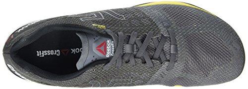 Reebok Crossfit Nano 5.0 Scarpe sportive indoor, Uomo Grigio (Shark / Ash Grey / Black / Yellow Spark)