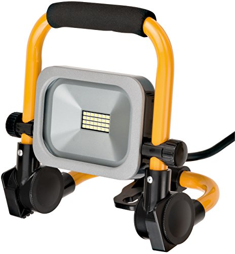 Preisvergleich Produktbild Brennenstuhl Mobiler Slim LED-Strahler (10 Watt, für außen und innen, Baustrahler IP54, LED Fluter) silber