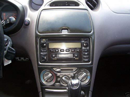 Toyota Celica Innen Black Carbon-Faser-Schlag Trim Kit Set 2000 2001 2002 2003 2004 2005