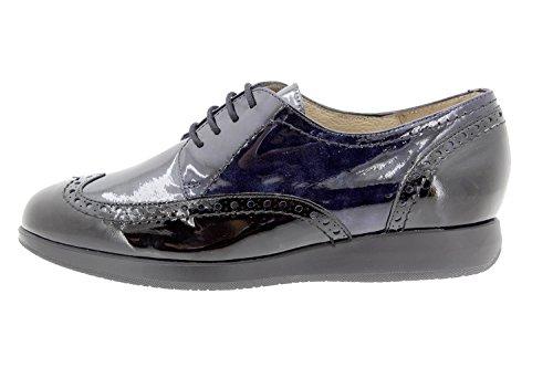 Calzado mujer confort de piel Piesanto 9630 zapato cordón cómodo ancho