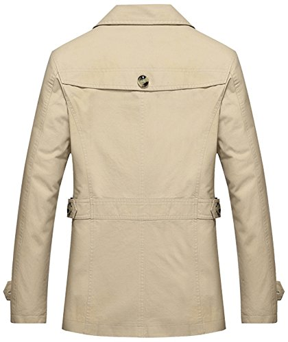 Mochoose-Uomo-Giacca-in-cotone-Trench-Giacca-classica-Giacca-in-risvolto-Giacca-manica-lunga-Giacca-retr