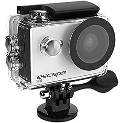 Kitvision Escape HD5 Caméra d'Action HD 720p avec Carte Mémoire Micro SD 8 GB - Blanc