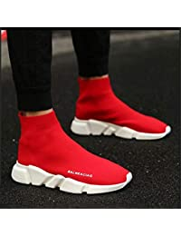 JIAODANBO Zapatos De Calcetines Elásticos De Los Hombres De Primavera para Ayudar A Los Zapatos Perezosos