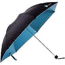 Migobi Ultraligero Lunares Plegable Viaje Compacto Paraguas Anti-UV sombrilla, 40 Pulgadas
