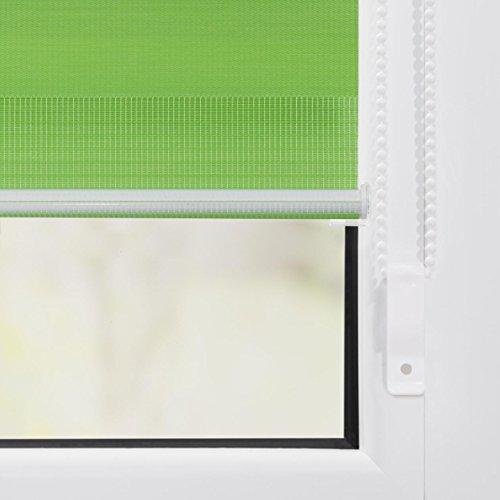 Lichtblick Duo-Rollo Klemmfix, 60 cm x 150 cm (B x L) in Grün, ohne Bohren, Doppelrollo für Fenster & Türen, moderner Sichtschutz, innovative Kombination aus Rollo & Jalousie - 6