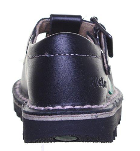Kickers kicklot ch pour enfant Noir Boucle Arrière à l'école chaussures Noir - Black Pink FV1