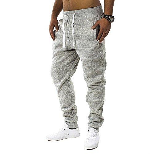 Pantaloni della tuta Uomo Fit & Casa ID1128 (vari colori), Farben:Hellgrau;Größe-Hosen:S
