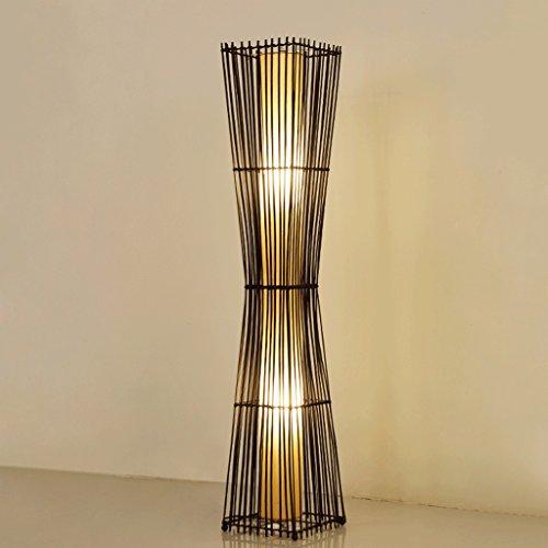 Defeng Lámpara de pie - Lámpara de pie de bambú del Hotel del Dormitorio del Estudio del Dormitorio de la Sala de Estar de la imitación del Sauce del bastón de Paja Creativo de IKEA (Color : C)