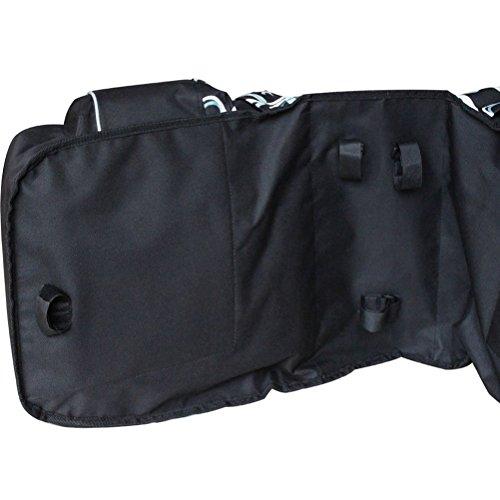 DCCN Fahrrad Rahmentasche Oberrohrtasche Fahrrad Satteltasche Lenker-Tasche fuer Mountainbike 30L Schwarz