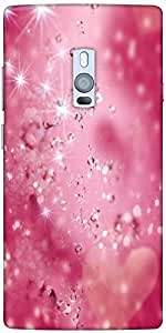 Snoogg Diamond sparkling heart Hard Back Case Cover Shield For Oneplus Two