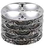 Stainless Steel Indian Idli (Rice Cake) Steamer 5 Plate by India Bazaar