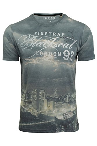 Firetrap Mens Tee Closson, T-Shirt Uomo Tenmile North