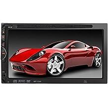 """Lacaca 17,78 cm (7"""") 1269 doppio Din-Dash In auto, unità DVD/CD, MP4, SD/USB/AM/FM, RDS, lettore Bluetooth, touch screen, AUX-In per Radio Tuner con telecomando, senza mani"""