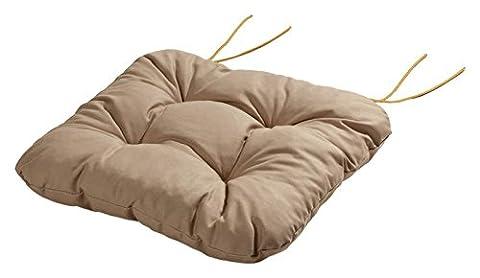 Stuhlkissen Sitzkissen Kissen mit Bändern 40x40x8 cm