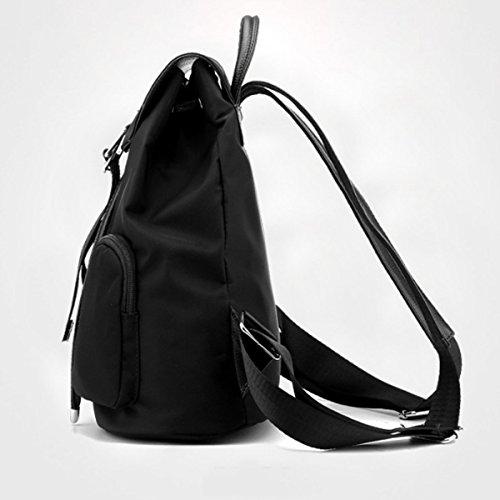 Borse da viaggio Borse da viaggio di tela di canapa dello zaino della borsa dello zaino della scuola della ragazza Nero