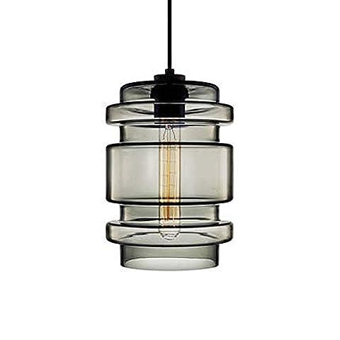 Bunte Pendelleuchte Hängeleuchte Grau Glas Lampenschirm E27 Nicht Inklusive Birne Für Cafe Bar D