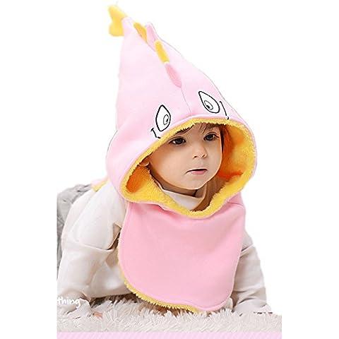 HelloPretty invernale caldo pile antivento sciarpa, cappello per bambini con animali