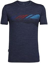 Icebreaker 150 Tech Lite Short Sleeve Crewe Summit and Sea Shirt Men - Merinoshirt