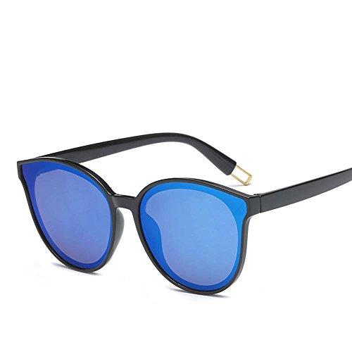 Luziang Runde Sonnenbrille Korea Retro Auge Farbe Sonnenbrille weiblich Flut Stern mit Sonnenbrille,Fahren, Reisen, Outdoor-Sport