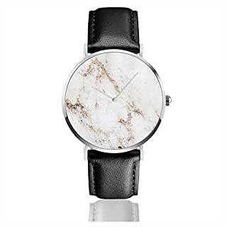 Artico Marmor Rose Gold Akzente Edelstahl Klassische Lederarmbanduhren