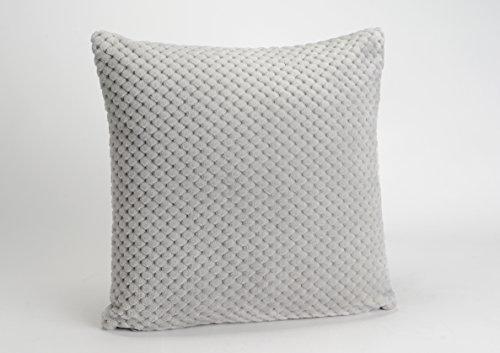 Lot de housse+coussin, collection Damier, de couleur gris clair, 40x40 cm, Amadeus