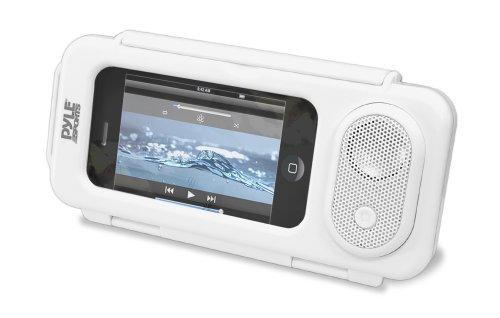 Pyle PWPS63WT Boîtier étanche et haut-parleur portable universel pour Lecteur MP3 et Smartphone Blanc