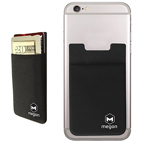 cell-phone-credit-card-holder-stick-on-wallet-case-w-rfid-blocking-for-videocon-a10f-a23-a29-a31-a42
