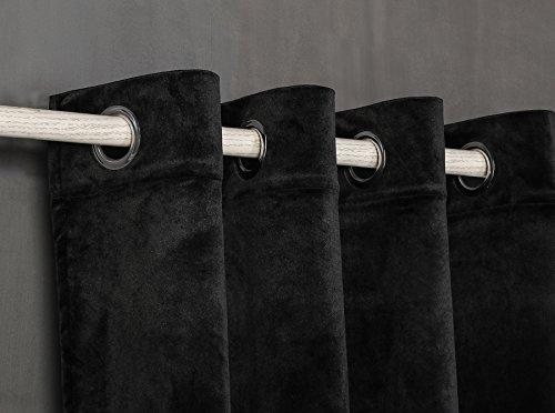 Cortina Terciopelo con 8 ollao (1 unidad x 140X260) para salón, habit