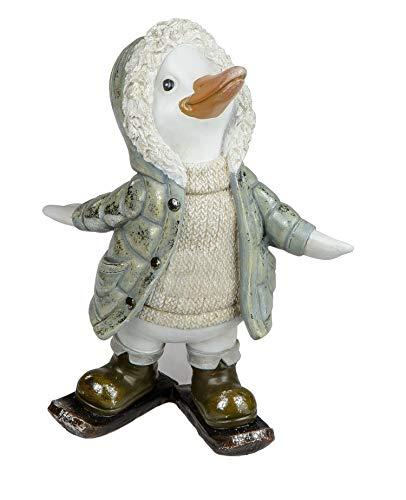 KLP Ente Skater Gans Deko Garten Tier Figur Skulptur Tierfigur Schwan Erpel Statue -
