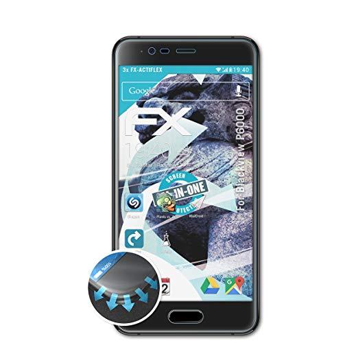 atFolix Schutzfolie passend für Blackview P6000 Folie, ultraklare & Flexible FX Bildschirmschutzfolie (3X)