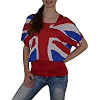 s & Lu Super Trendy 2Piece Fan–Top Germany Italy France England Spain Flag Design USA Size 8-14–£ 5.99(XS-L)