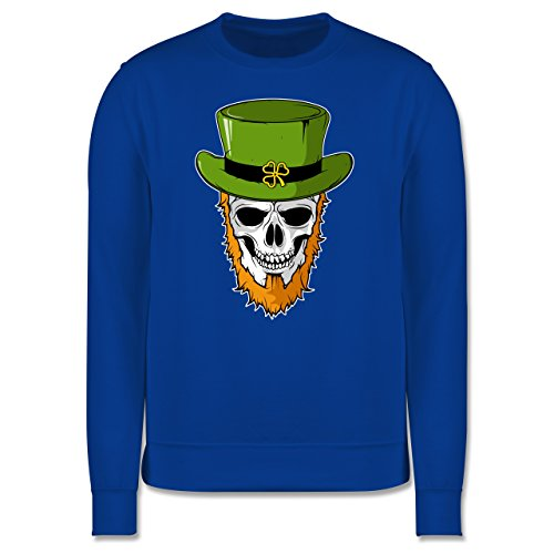 Festival - St. Patricks Day - Totenkopf - Herren Premium Pullover Royalblau