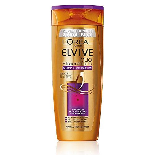 L'Oréal Paris Elvive Olio Straordinario Ricci Sublimi - Shampoo idratante per capelli ricci o mossi - 300 ml