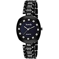 Howdy Black Analog Wrist Watch
