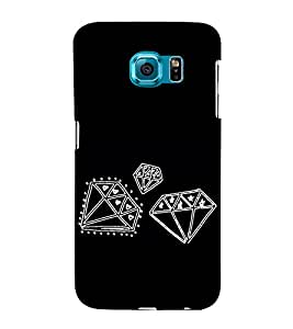 Diamonds Clipart 3D Hard Polycarbonate Designer Back Case Cover for Samsung Galaxy S6 Edge+ :: Samsung Galaxy S6 Edge Plus :: Samsung Galaxy S6 Edge+ G928G :: Samsung Galaxy S6 Edge+ G928F G928T G928A G928I