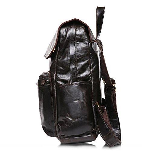 Leder Herren Umhängetasche lässige Wildleder Leder Umhängetaschen Mode-Rucksack 2