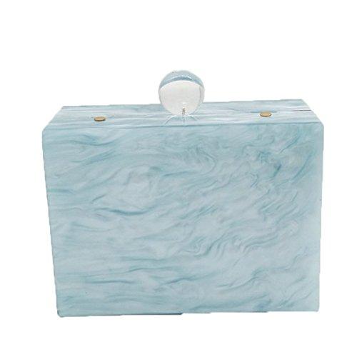 FZHLY Modello Nero Bianco Acrilico Piccolo Borsa Quadrata Piccola Confezione Piccola Fresca Catena,Blue Blue