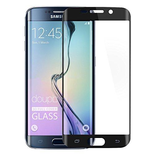 Samsung Galaxy S6 Edge Panzerglas[2 Stück] , Samsung Galaxy S6 Edge Schutzfolie, 9H Displayschutzglas Full Screen Touch Echtglas + Hülle transparent für Samsung Galaxy S6 Edge