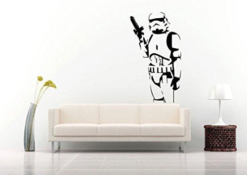 Énorme Grand Sticker mural Stormtrooper XXL Stickers muraux légendaires Star Wars Stickers muraux pour les hommes.