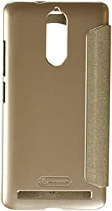 Nillkin Sparkle Smart Window & Sleep Function Leather Flip Cover Case for Lenovo K5 Note ( 5.5 inch Display ) - Champaign Golden