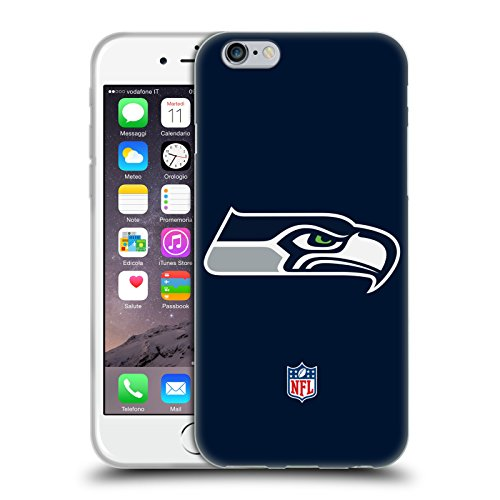 Head Case Designs Offizielle NFL Einfarbig Seattle Seahawks Logo Soft Gel Huelle kompatibel mit iPhone 6 / iPhone 6s